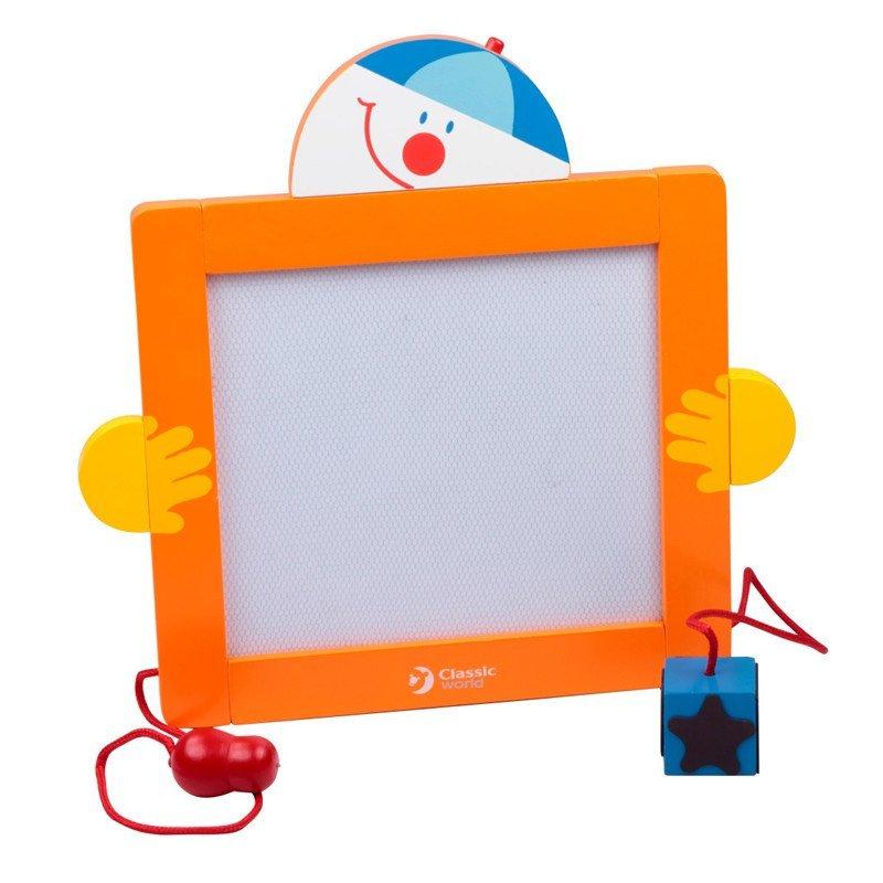 德国双面可升降实木儿童画板 小黑板磁性支架式 儿童绘画板写字板