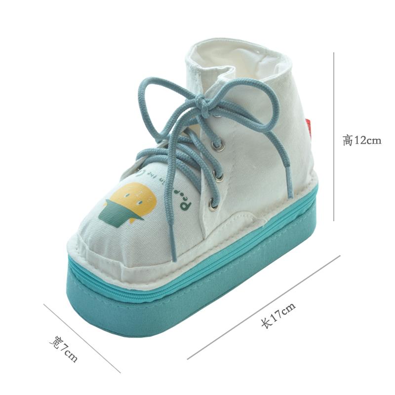 uoopink 卡通创意鞋子造型笔盒学生拉链式笔袋安哥拉猫多功能笔筒包邮