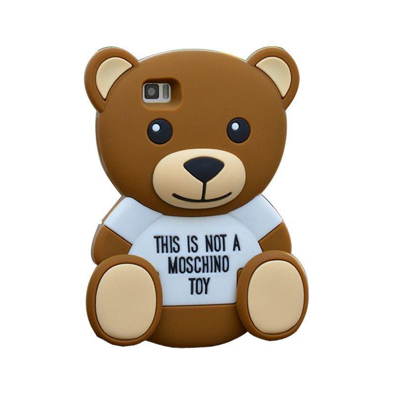 法威仕 手机套保护壳套 泰迪熊可爱卡通硅胶套软壳 适用于小米3/小米