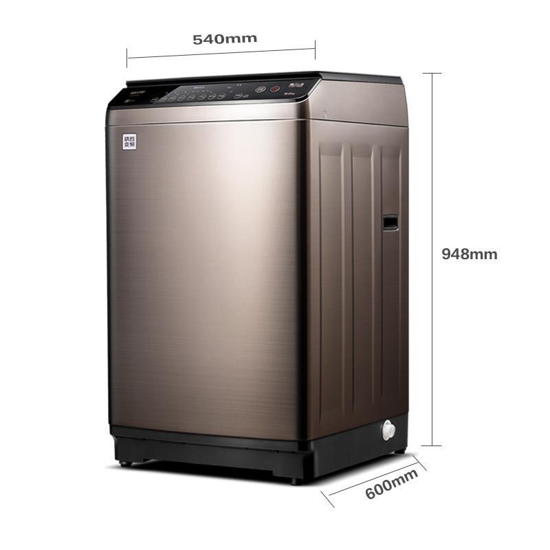 三洋(sanyo)db80377bye 8公斤 全自动 变频 波轮洗衣机(钛金灰)