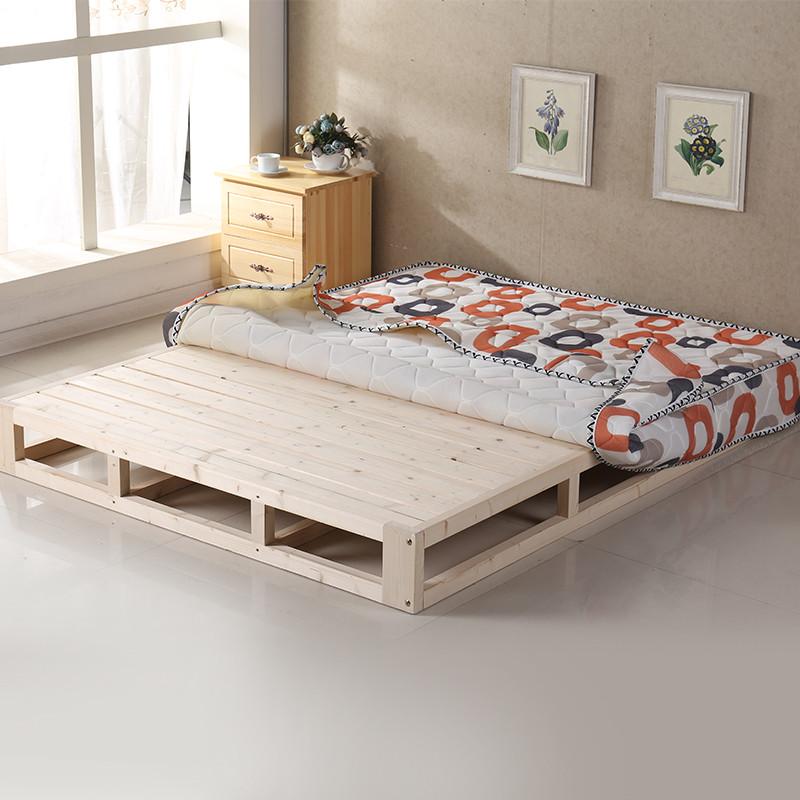 诚美家具 实木床垫 木板床榻榻米床 松木硬席梦思 硬床板排骨架