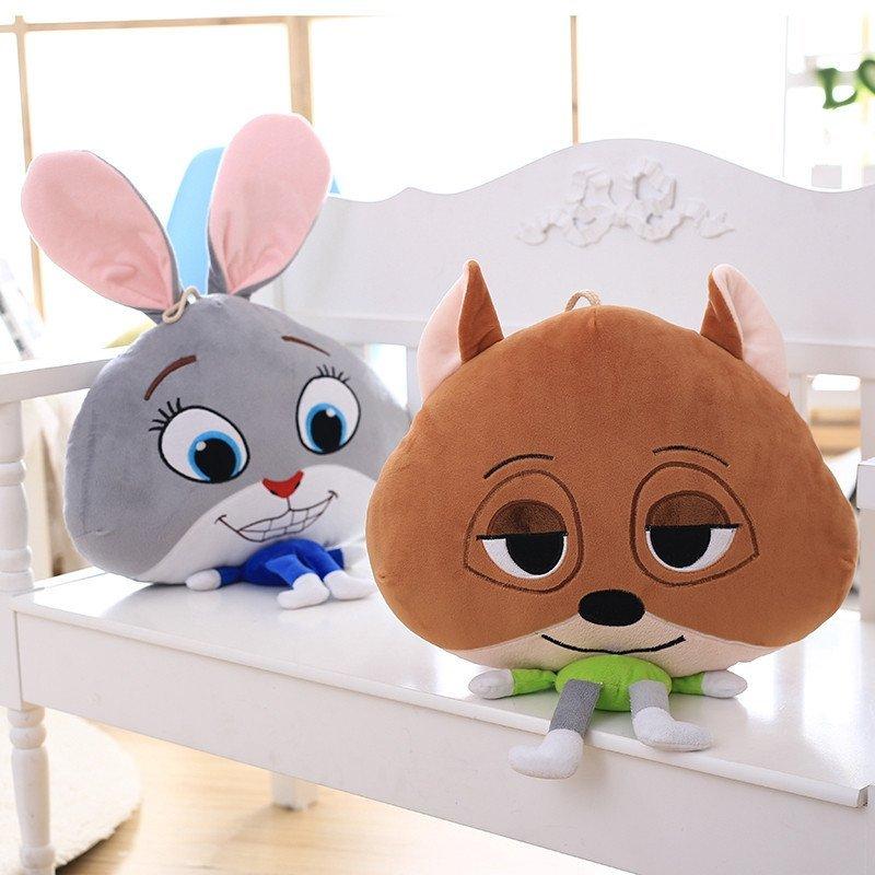 疯狂动物城 zootopia兔朱迪狐狸尼克抱枕空调毯毛绒玩具创意礼物