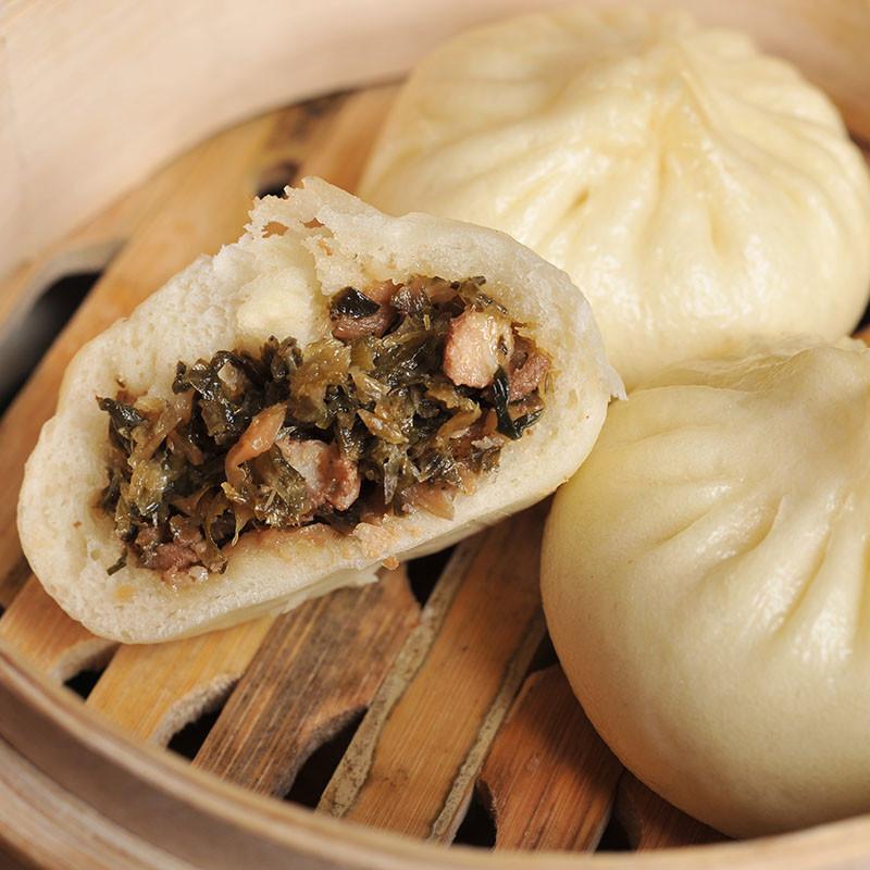 舌尖上的营养儿童早餐必备扬州特产五亭包子梅干菜肉包80g*6只/袋