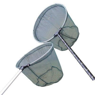刀客1.7米抄網 圓竿花竿 抄網頭釣具抄網桿撈網 可定位/競技抄網可折疊漁具