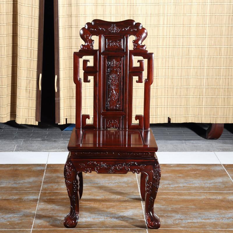 琪梦红木家具1.2米红木餐桌南美酸枝木红木圆桌一桌六