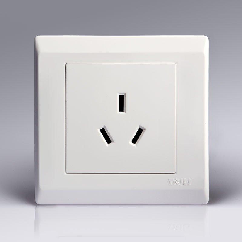 泰力开关插座 86型16a白色三孔大功率空调电源插座大