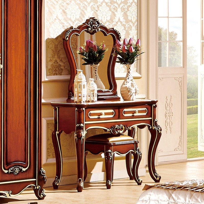 法莉娜 美式梳妆台卧室 法式新古典梳妆台欧式妆台实木化妆桌 r30