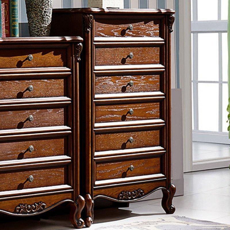 法莉娜欧式五斗柜实木斗橱 法式四五六收纳储物柜美式抽屉斗柜j75