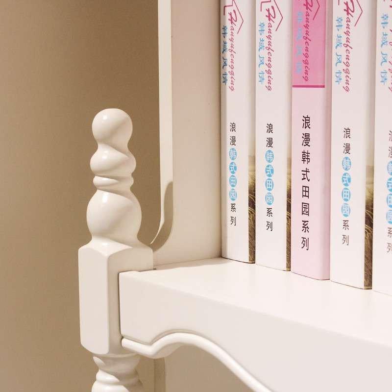 法莉娜 田园电脑台韩式书桌 儿童书台带书架书柜写字台转角 x22图片