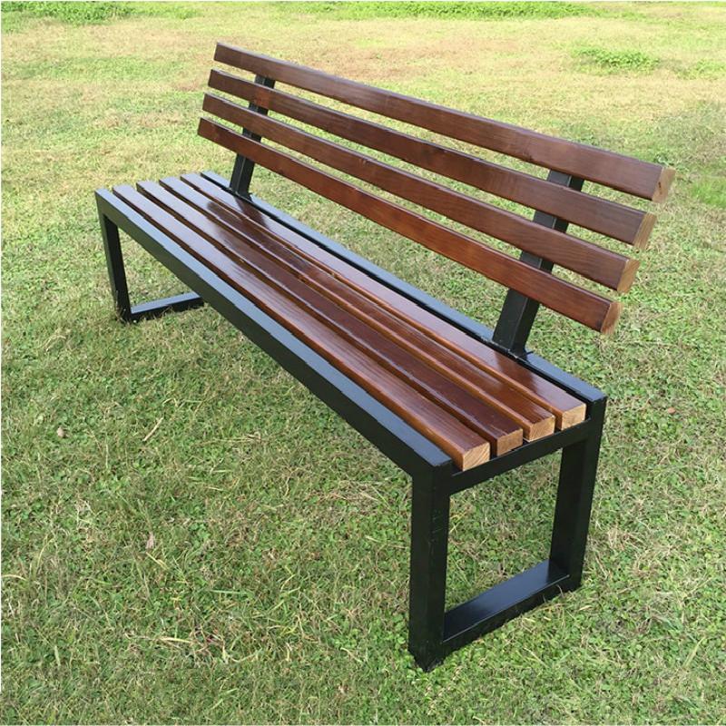 【京好】公园休息长椅 碳化防腐实木户外阳台庭院休闲长条椅f66
