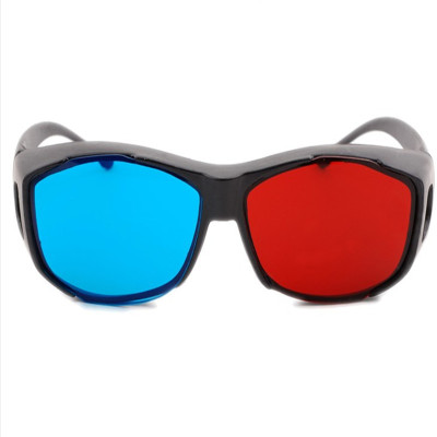 【3D红蓝眼镜 红蓝光立体眼镜】新款高清红蓝3d眼镜普通电脑专用3D眼镜 暴风影音三D立体电影电视通用捷稀JCG不防水