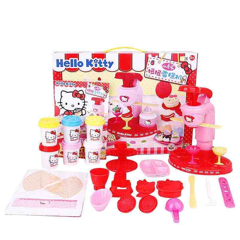凯蒂猫美食屋3d打印泥彩泥 安全无毒超轻黏土彩泥diy橡皮泥玩具8606