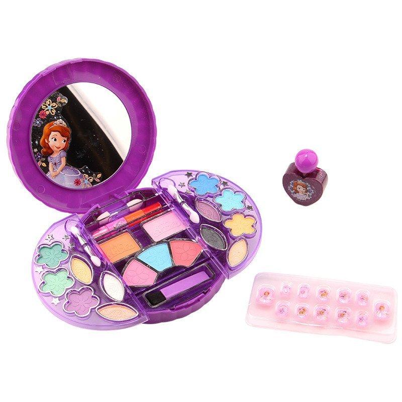 正品迪士尼小公主苏菲亚儿童化妆品套装 公主表演彩妆盒女孩口红指甲