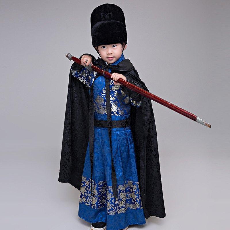 时光叙 儿童古装锦衣卫服装飞鱼服男童侠士侍卫护卫服