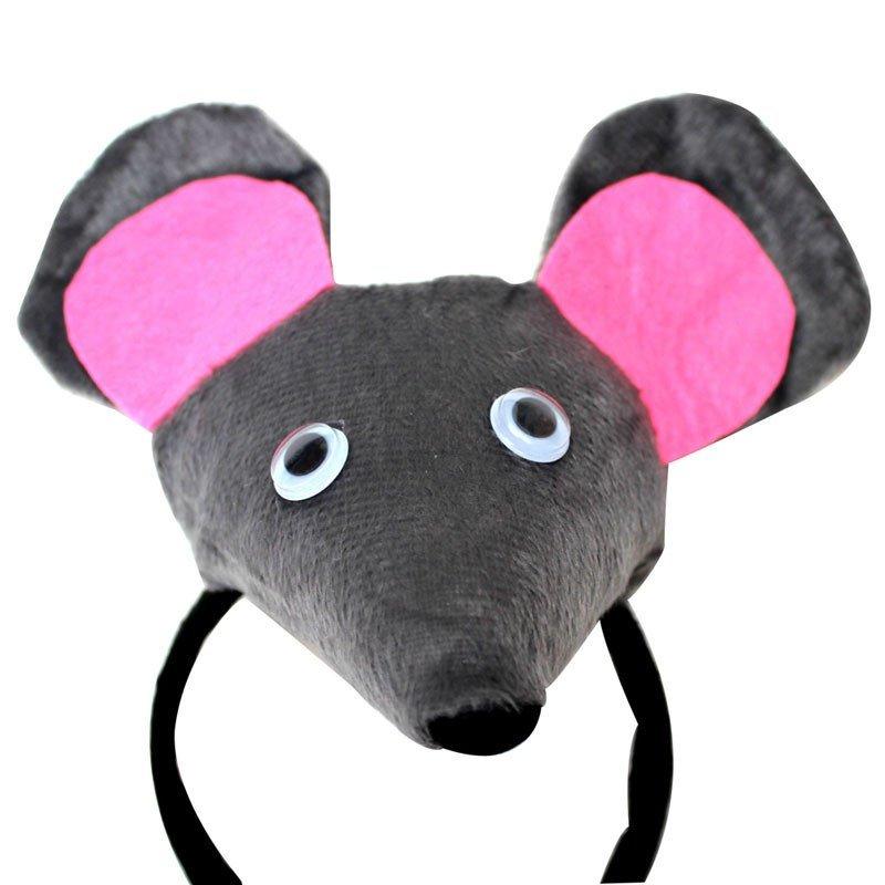 欢乐派对年会动物头饰道具儿童演出表演头饰立体小老鼠头饰头箍发箍新