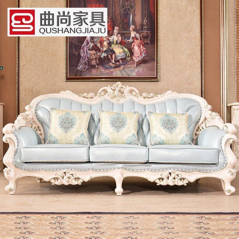 沙发 欧式真皮沙发组合