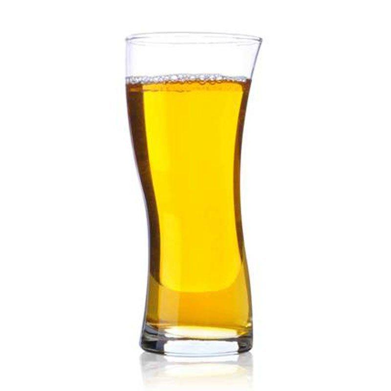 弯曲造型透明水杯子创意茶杯玻璃杯经典款耐热果汁杯啤酒杯图片