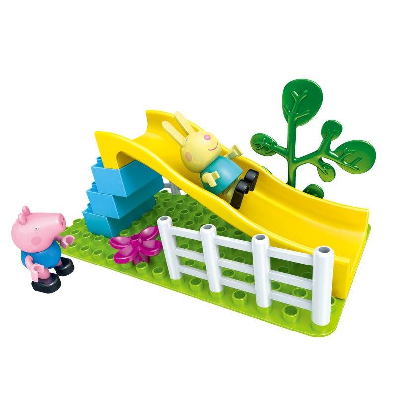 邦宝小猪佩奇广告peppapig积木拼装乔治佩奇益智过家家塑料玩具情景礼六一儿童节打娃娃生日图片