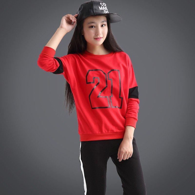 2016新款童装女童秋装套装青少年大童女装10-11-12-13