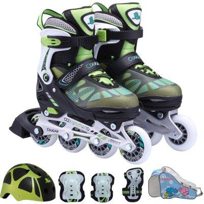 美洲狮(COUGAR)MZS733轮滑鞋可调儿童成人直排轮滑鞋套装旱冰鞋男女