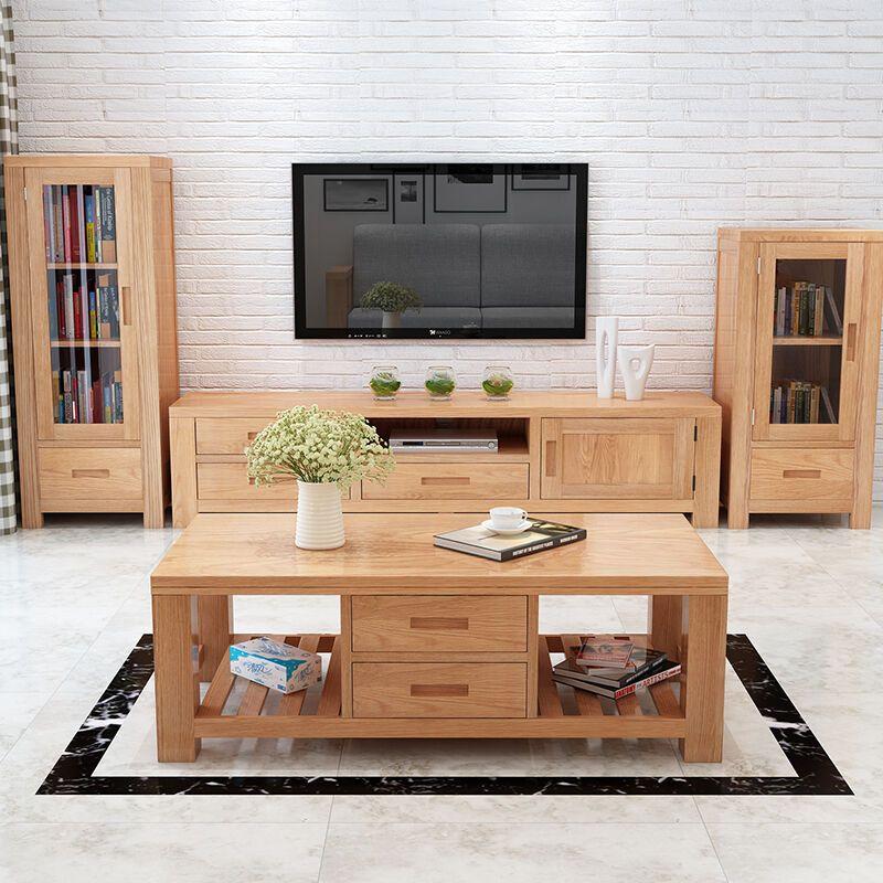华纳斯 实木电视柜白橡木电视柜 客厅日式北欧客厅家具电视柜简约