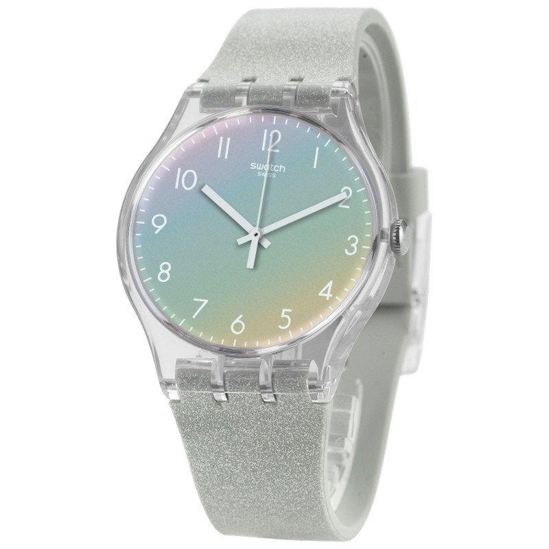 彩特手表_斯沃琪swatch手表2016年晕彩设计彩虹色石英男女表
