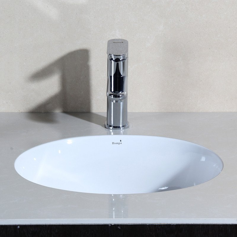 泓派卫浴台下盆椭圆形洗手盆嵌入式洗面盆台盆 22寸-555*420*200图片