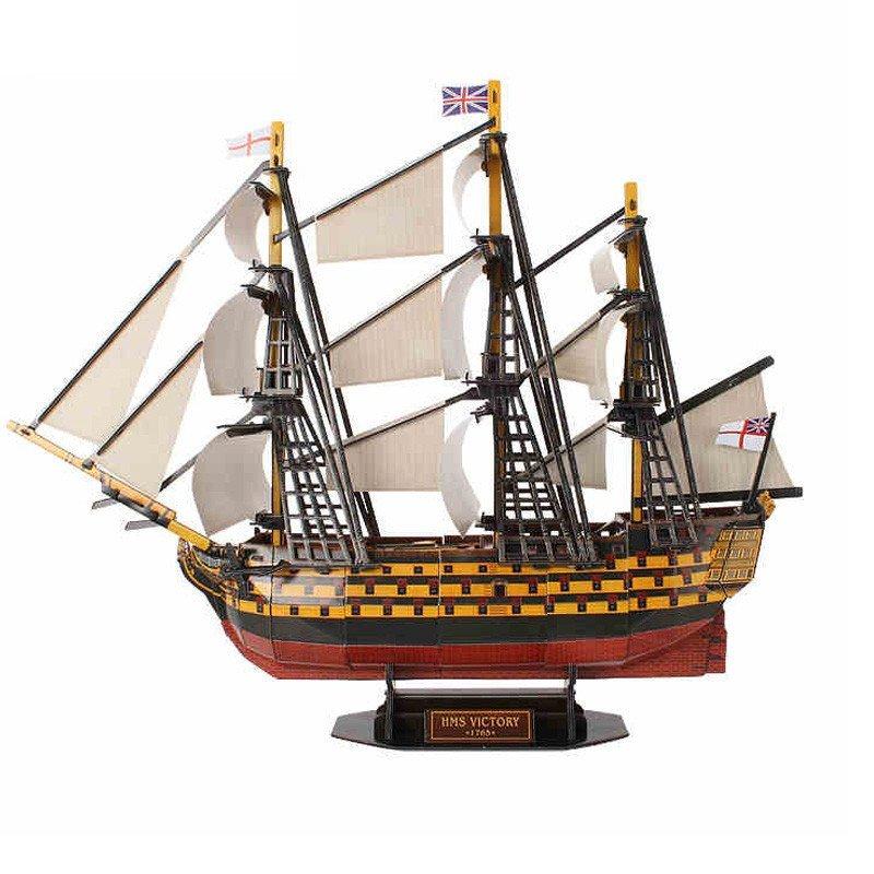 乐立方图纸3D皇家拼图售楼英国儿童胜利号纸吊顶立体益智问题部不详的存在图片