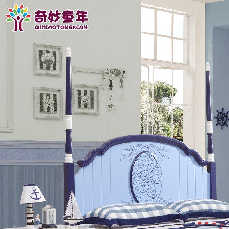 实木儿童床 男孩 欧式儿童家具