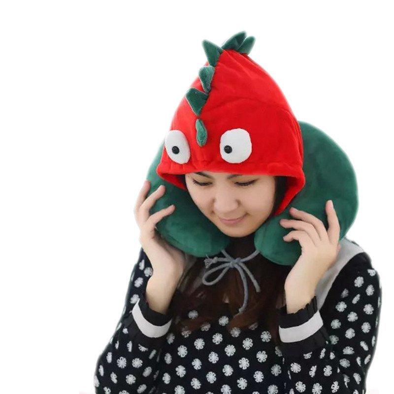 连体帽子萌帽枕生日礼物包邮