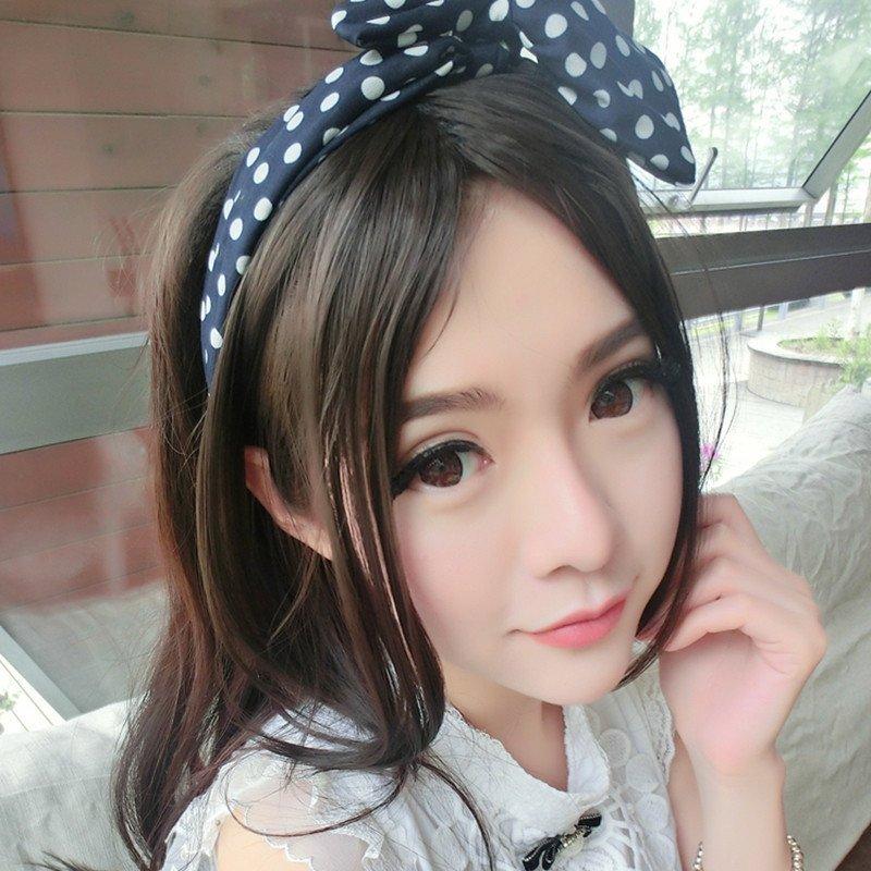 小苏妞假发 斜分中分 刘海假发 中分假发 长发卷发可爱女生时尚流行