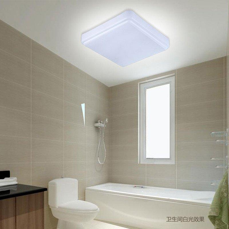七牛led吸顶灯正方形方块亚克力明装厨房卫生间洗手间