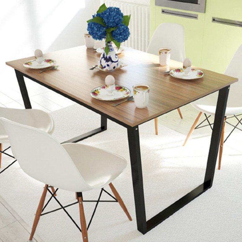 现代时尚简约小户型餐桌 长方形吃饭桌子图片