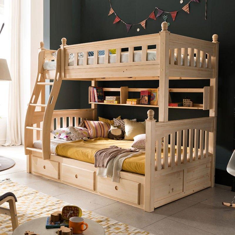 武汉儿童高低床实木 上下床双层床实木图片