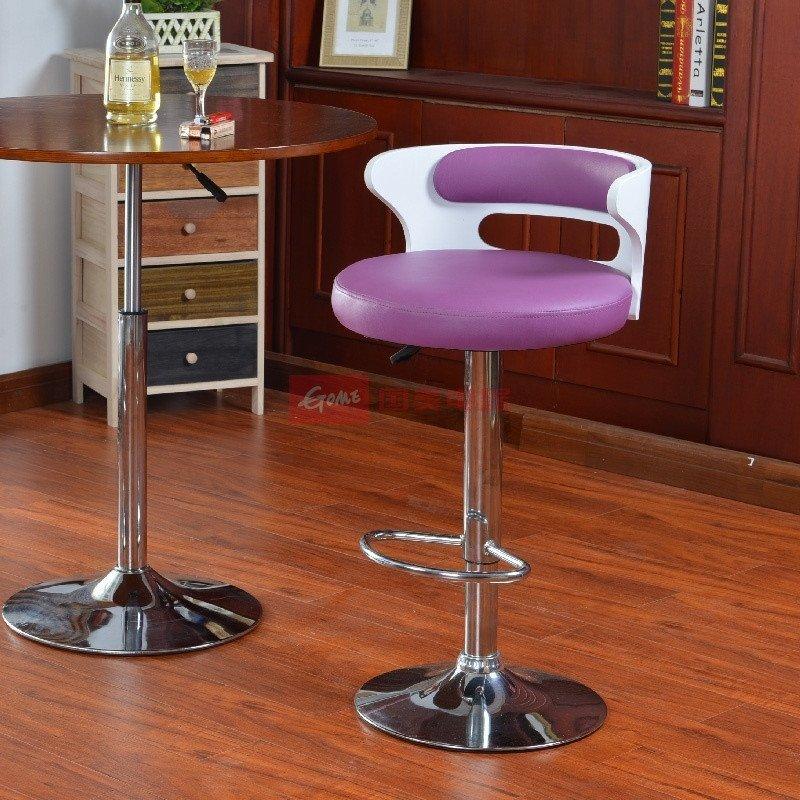 欧式复古曲木吧椅洒吧椅收银椅前台椅可升降可旋转椅吧台椅家用吧台