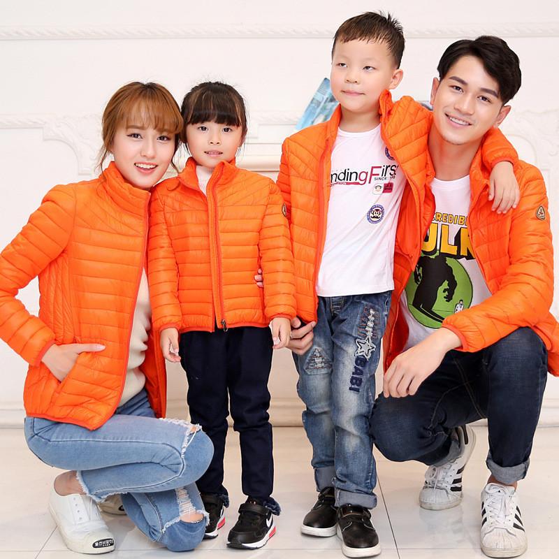 2016亲子装冬装棉衣儿童羽绒棉服母女母子韩版棉袄外套
