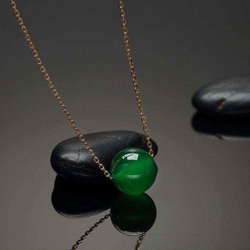 925银玉髓转运珠时尚单珠项链时尚潮流款吊坠