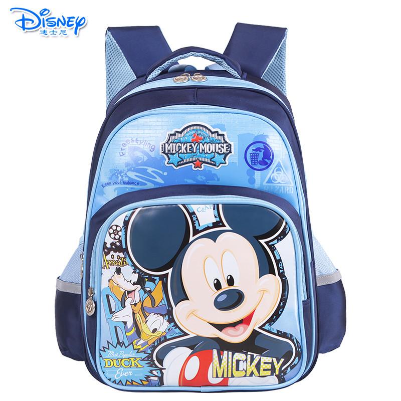 小学生书包1-4年级米奇儿童双肩背包卡通包 sm80884藏青送笔盒 xy文具