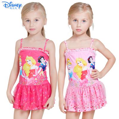 迪士尼(Disney)公主儿童泳衣可爱连衣裙游泳衣女童宝宝连体速干卡通泳装