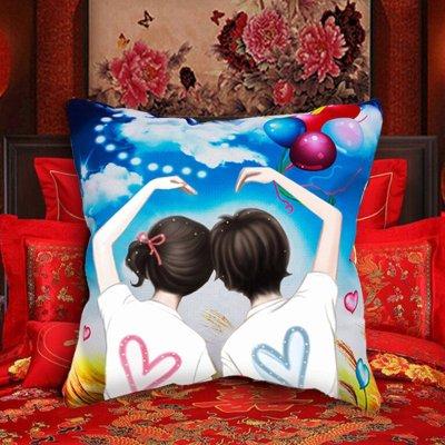 完美爱情5D婚庆刺绣汽车结婚十字绣抱枕情侣婚礼新款3d枕头枕套客厅沙发卧室靠垫套件