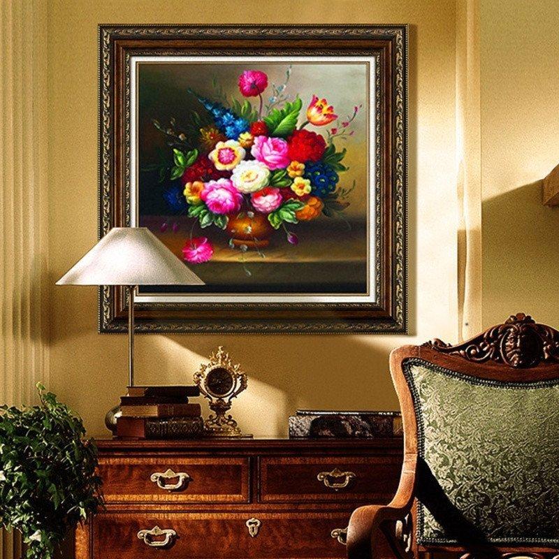 歐式花瓶 5d鉆石畫圓鉆滿鉆3d點粘鉆貼鉆十字繡客廳新款水晶鉆石繡