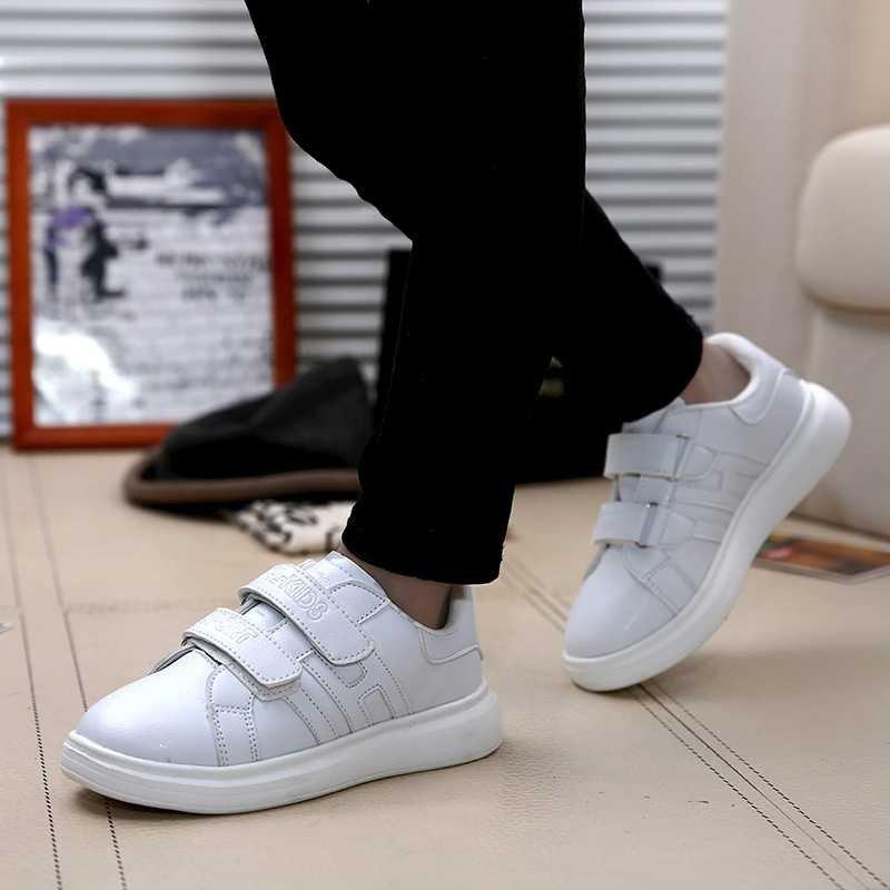 男女童夏季白鞋 时尚大方小孩白色金色银色板鞋 男生女生校园日常单鞋