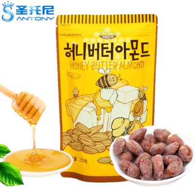 韩国进口Tom's Farm汤姆农场蜂蜜黄油扁桃仁250g杏仁味坚果零食