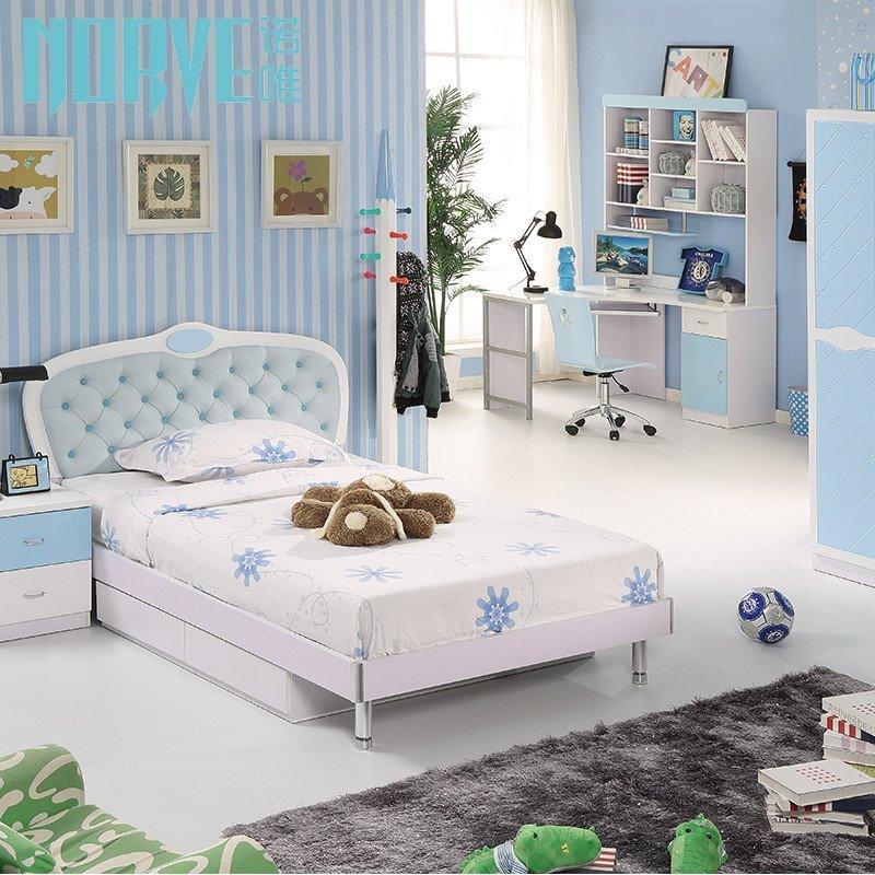 诺唯欧式儿童床男孩儿童家具王子床儿童房家具套装床