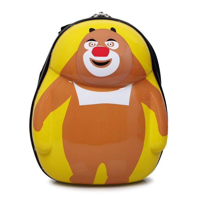 璐思迪儿童书包 卡通动物硬壳防雨小学生幼儿园背包 蛋壳双肩包13寸