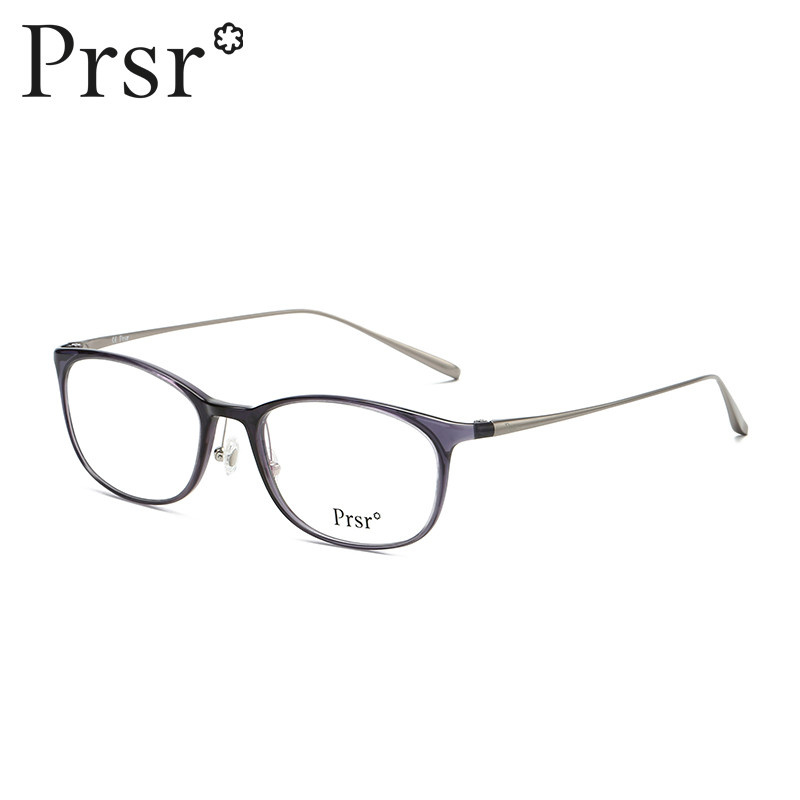 【帕莎】防蓝光文艺眼镜框时尚圆框潮框架眼镜女可配近视ps66152