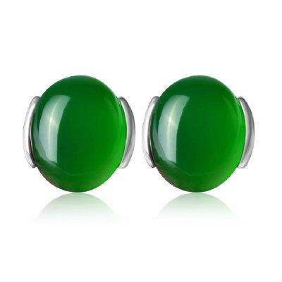 in-sunshine 綠瑪瑙耳釘 女 瑪瑙耳飾 耳釘女 耳飾純銀 耳飾女 耳飾品 銀耳飾 耳釘純銀 飾品 耳飾
