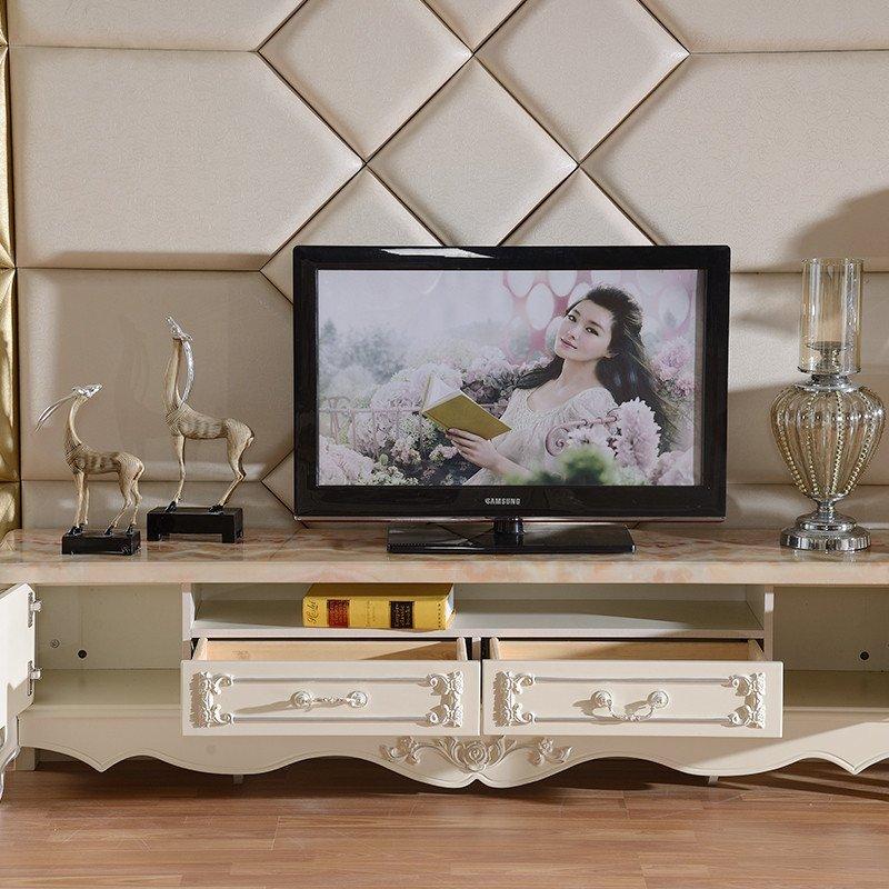 古卡罗家具 电视柜 欧式大理石电视柜 法式实木客厅地