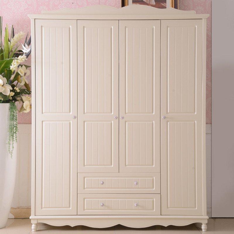 古卡羅 臥室衣柜 韓式衣柜簡易兒童整體衣柜兩三門衣柜實木衣櫥組合