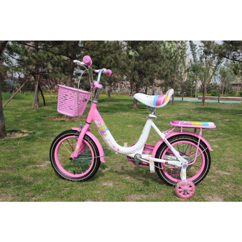 儿童自行车12/14/16寸2-8岁童车小孩公主款小自行车宝宝单车带辅助轮